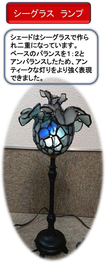 シーグラスランプ